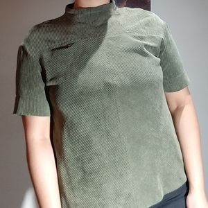 Prologue | Olive Green Corduroy Top